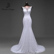 Offre spéciale livraison gratuite élégant belle dentelle fleurs sirène robe de mariée 2020 vestidos de noiva robe de mariage robe de mariée