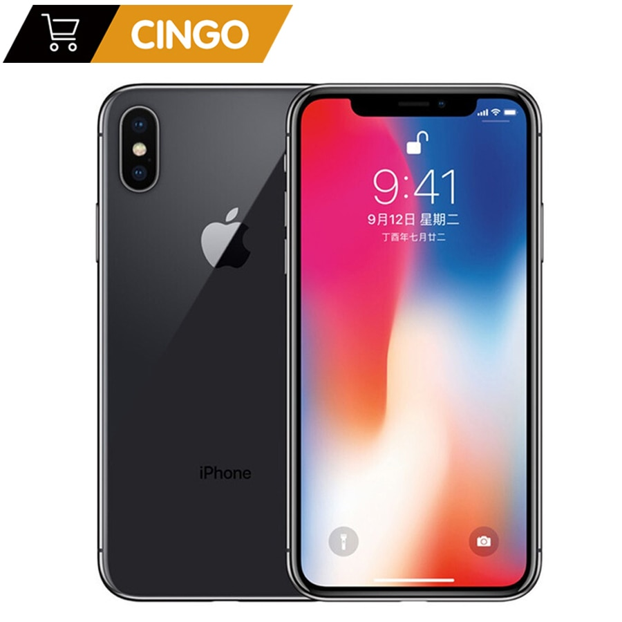 Review Original Apple iPhone X Face ID 64GB/256GB ROM  3GB RAM 12MP Hexa Core iOS A11 5.8 inch Dual Back Camera 4G LTE Unlock iphone x