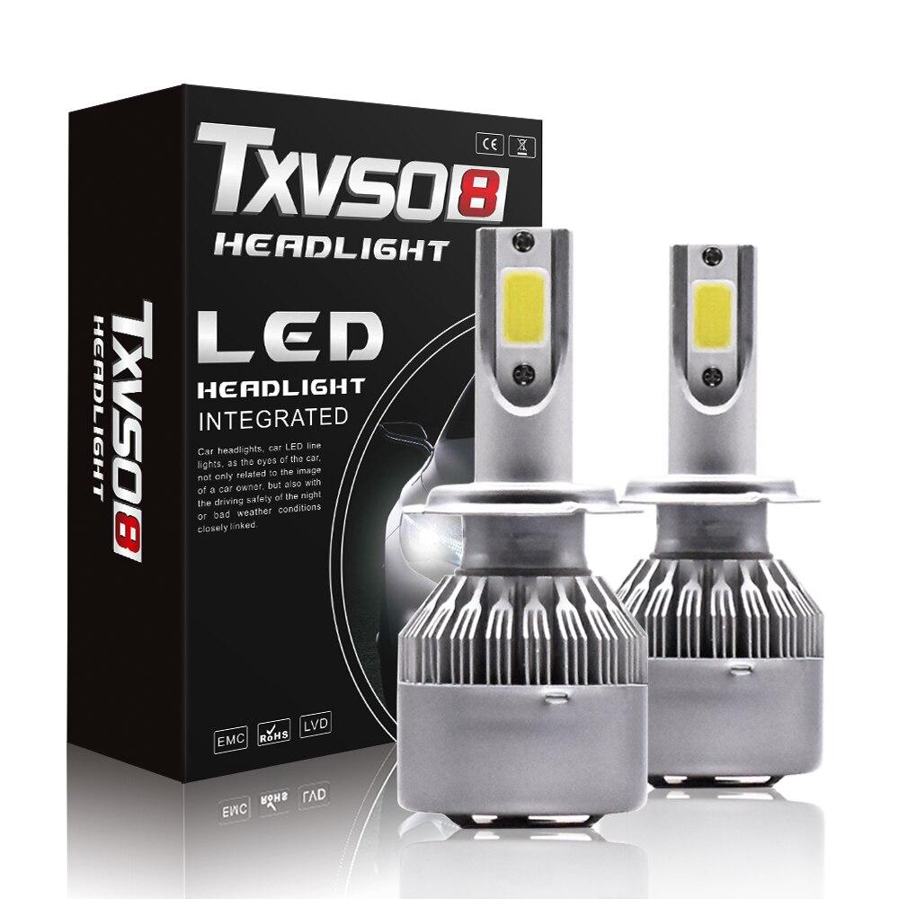 2 piezas T2 H7 LED de la linterna del coche H4 bombillas LED H1 H3 9005 HB3 9006 HB4 H8 H9 H11 110W 26000LM 6000K lámpara LED faro lámpara