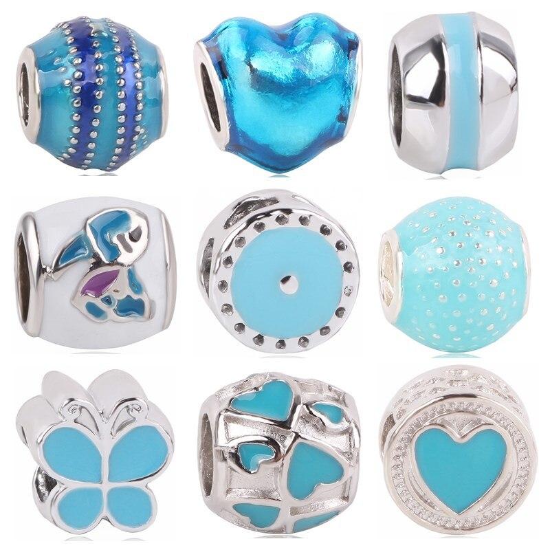 Dodocharms 5 unids/lote, recién llegado, muchos estilos de abalorios europeos para pulseras Pandora, COLLAR COLGANTE para mujeres, accesorios DIY