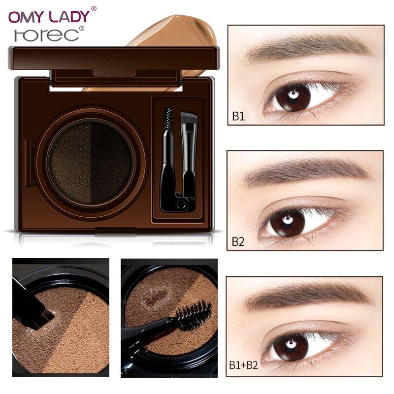 OMY LADY HANCHAN 24H Waterproof air cushion Eyebrow Cream Natural Color Eye Brow Gel No Shading Durable Gel Waterproof Makeup