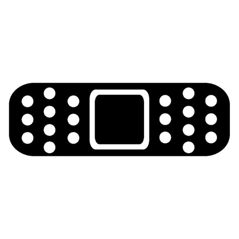 12.7cm * 4cm band aid moda carro-estilo decorativo janela decalque vinil adesivos preto/prata S3-4784