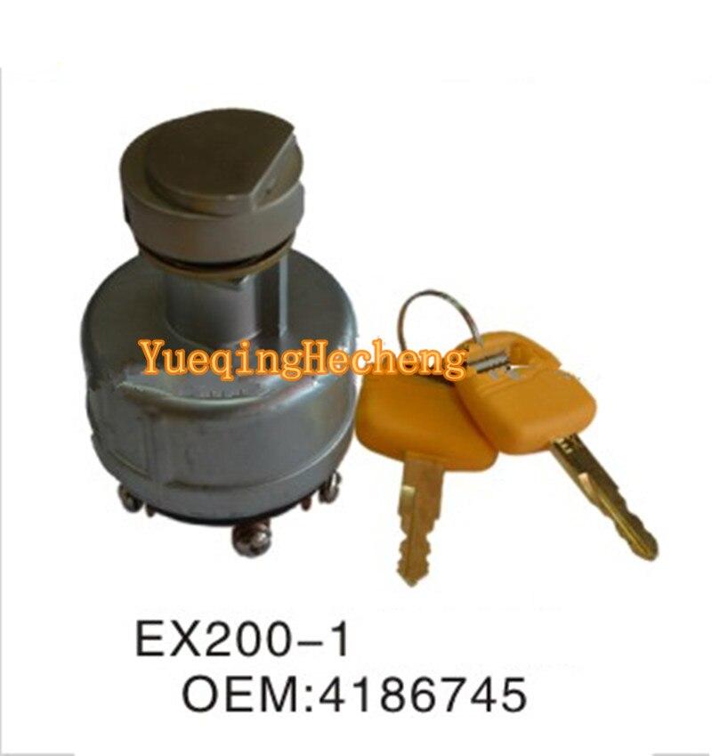 Encendido interruptor de arranque 4186745 para Hitachi EX60 EX100 EX120 EX150 EX200 EX220