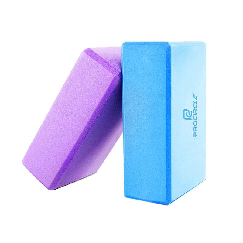 Bloque de Yoga de EVA de alta densidad procircle, bloque de Yoga para gimnasio, ejercicio en casa, bloque de espuma de estiramiento deportivo en 4 colores