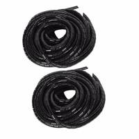 ID Tube enroule en spirale 7mm x OD 8mm 12 metres   Tube de cable Transparent  tenue de cable  Kit dorganisation de gestion de television et Home cinema