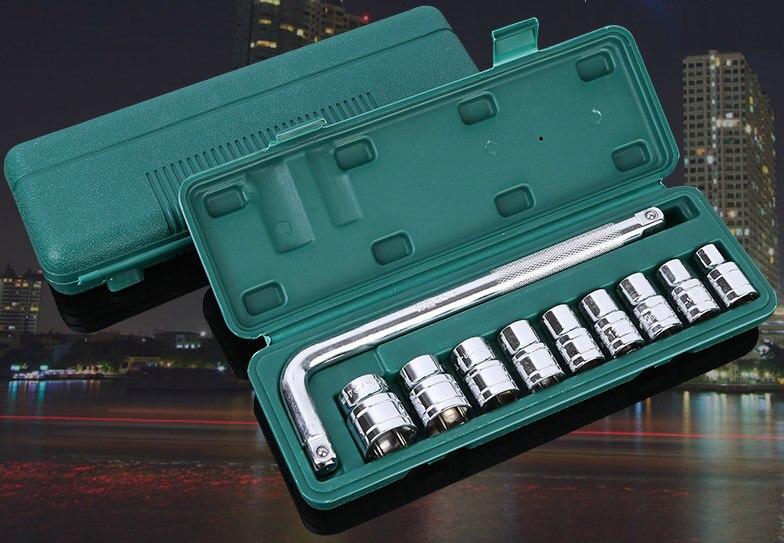 """10 pçs/set Cr-V 1/2 """"8mm-24 milímetros Hexagon Soquete soquetes Chave de Torque chave de Alta Qualidade"""