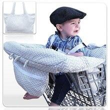 2 en 1 lavable plegable carrito de compras para bebé cubierta caliente niños supermercado carro cubre silla asiento de coche Compra Protector