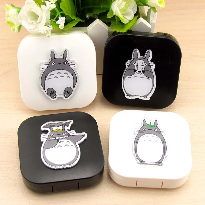 Free ship!1lot=10set!cartoon Totoro contact lenses box / companion box / Cartoon eyeglasses box / lens care /storage box