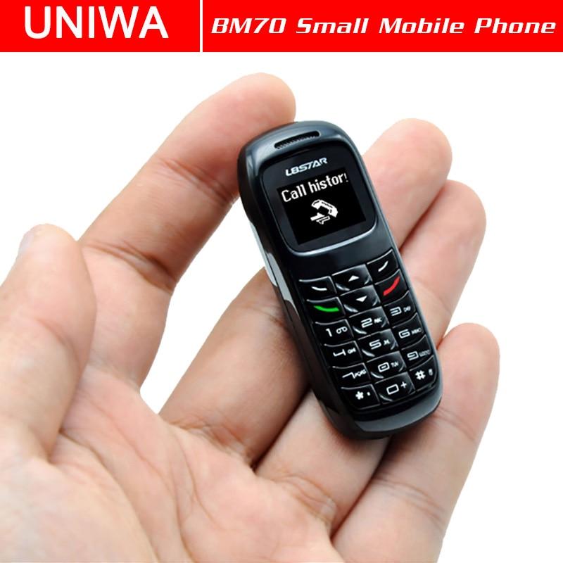 UNIWA L8STAR BM70 Mini Mobile Phone Wireless Bluetooth Earphone Cellphone Stereo GSM Unlocked Phone