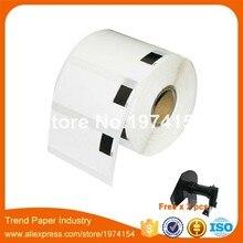 30 rollos de repuesto compatibles con la etiqueta DK-11209 62mm * 29mm 800 piezas compatibles con la impresora de etiquetas Brother papel blanco DK11209 DK-1209