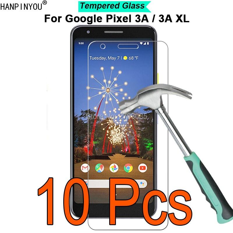 10 pçs/lote Para Google Pixel 3A/3A XL 9H Dureza 2.5D Ultra-fino Temperado Filme De Vidro Temperado guarda Protetor de tela