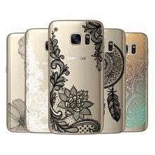 Cadran fleuri Pour Coque Samsung Galaxy Grand J2 J3 J5 J7 Premier A3 A5 A7 A8 2016 2017 2018 S5 Mini S6 S7 Bord S8 S9 Plus Dentelle Couverture