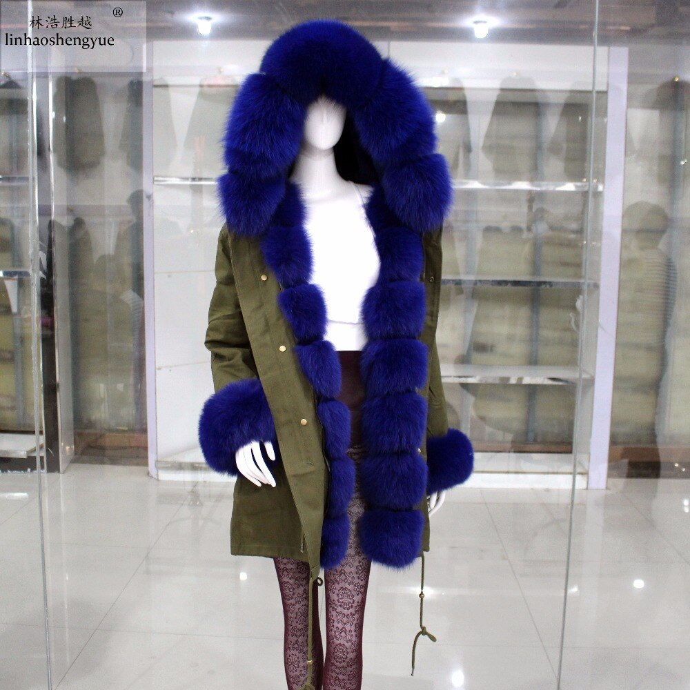 Linhaoshengyue Fashion Women Coat with Fox Fur and Rabbit Fur Lining  Winter Warm Fashion 2018 winter warm women white sneaker fashion footwear lace up lady shoes with soft fur lining candy color back
