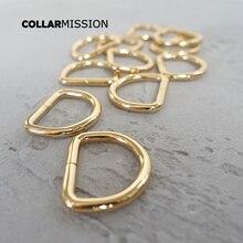 Anneaux de vente en détail D pour sangles de 25mm   Bricolage, collier de chien, partie chaîne ceinture en cuir plaqué Dee anneau sac vêtement boucle en métal DK25J02