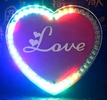 Kleurrijke LED hart DIY maken kit solderen leren kit Creatieve gaven led diy elektronische kit AA batterij voeding
