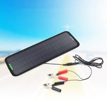 Портативная 18В 5 Вт монокристаллическая Кремниевая солнечная панель автомобильное зарядное устройство для аккумулятора 12В автомобильного...
