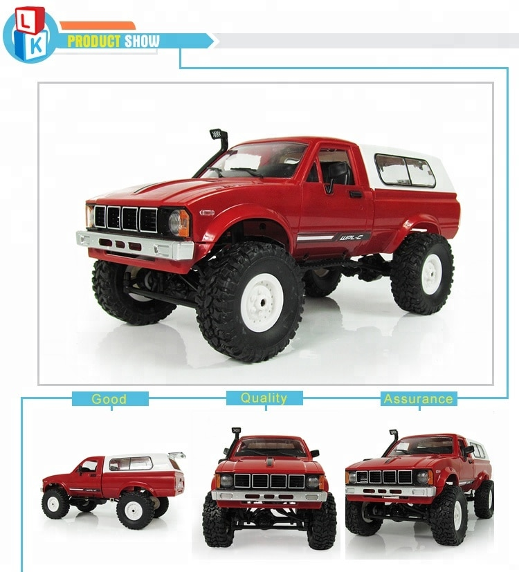 Profession Eelectric Toys 2.4G rc 1:16 Metal Remote Control Cars with Light rc Monster Truck Wltoys carro de controle remoto enlarge