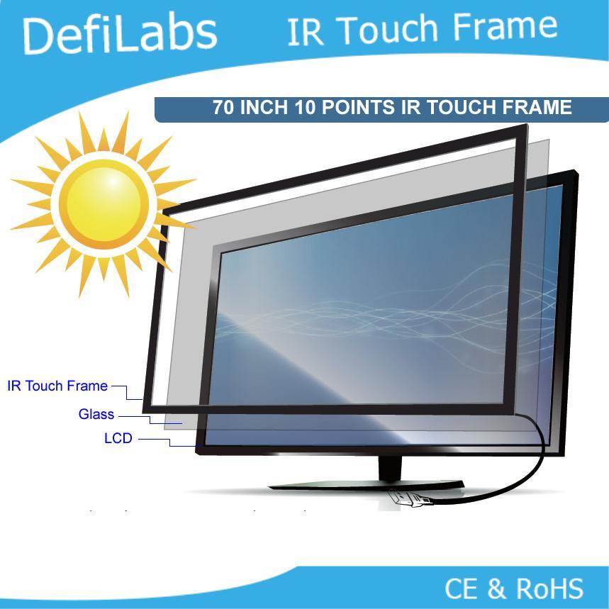 """DefiLabs el precio más bajo para 10 puntos táctiles 70 """"Marco de pantalla táctil multiinfrarrojo para mesa táctil, quiosco, etc."""