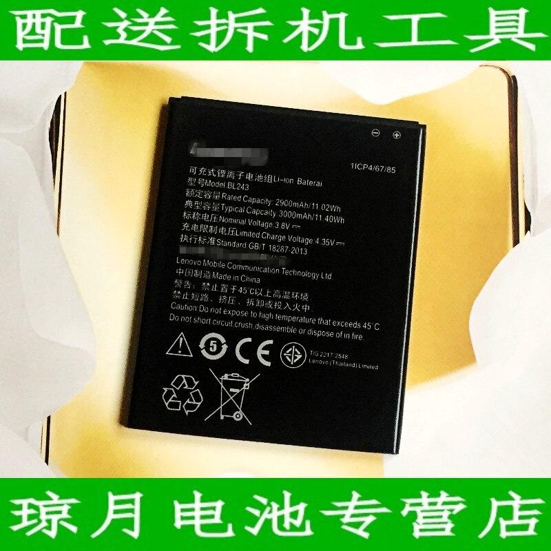 Оригинальный аккумулятор для Lenovo K3 Note 2900 мАч, литий-ионный BL243, Замена K50-T5 смартфона