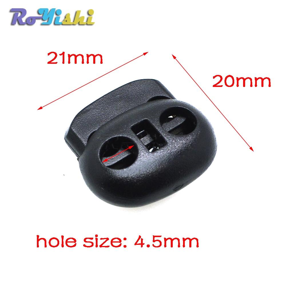 Блокировка шнура Bean Toggle Stopper пластиковый размер 20 мм * 21 мм * 8 мм тумблер черный