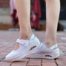 Moda Mujer Zapatos plataforma verano transpirable señora Casual zapatos 41 42 Flats Swing zapatos amortiguación suelas zapatos al aire libre