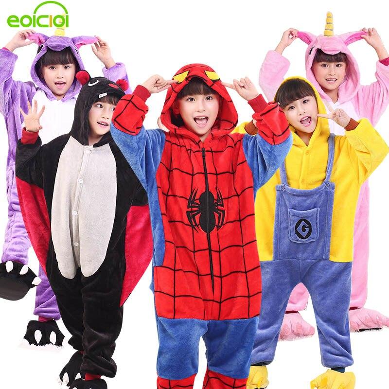 EOICIOI niños kigurumi pijamas Animal de franela Pegasus Stitch unicornio pijamas para niños niñas invierno cálido niños ropa de dormir Bebé