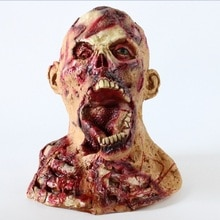 Kigurumi, Cosplay de Halloween, máscaras de Terror, casco de monstruo, accesorios para mascarada Terror, cabeza completa de látex, máscara zombi de miedo para fiestas cerebrales