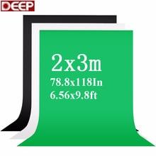 2X3m фон для фотосъемки с зеленым экраном, фоны для фотосъемки с хромовым ключом, белый фон, черные фоны для фотостудии