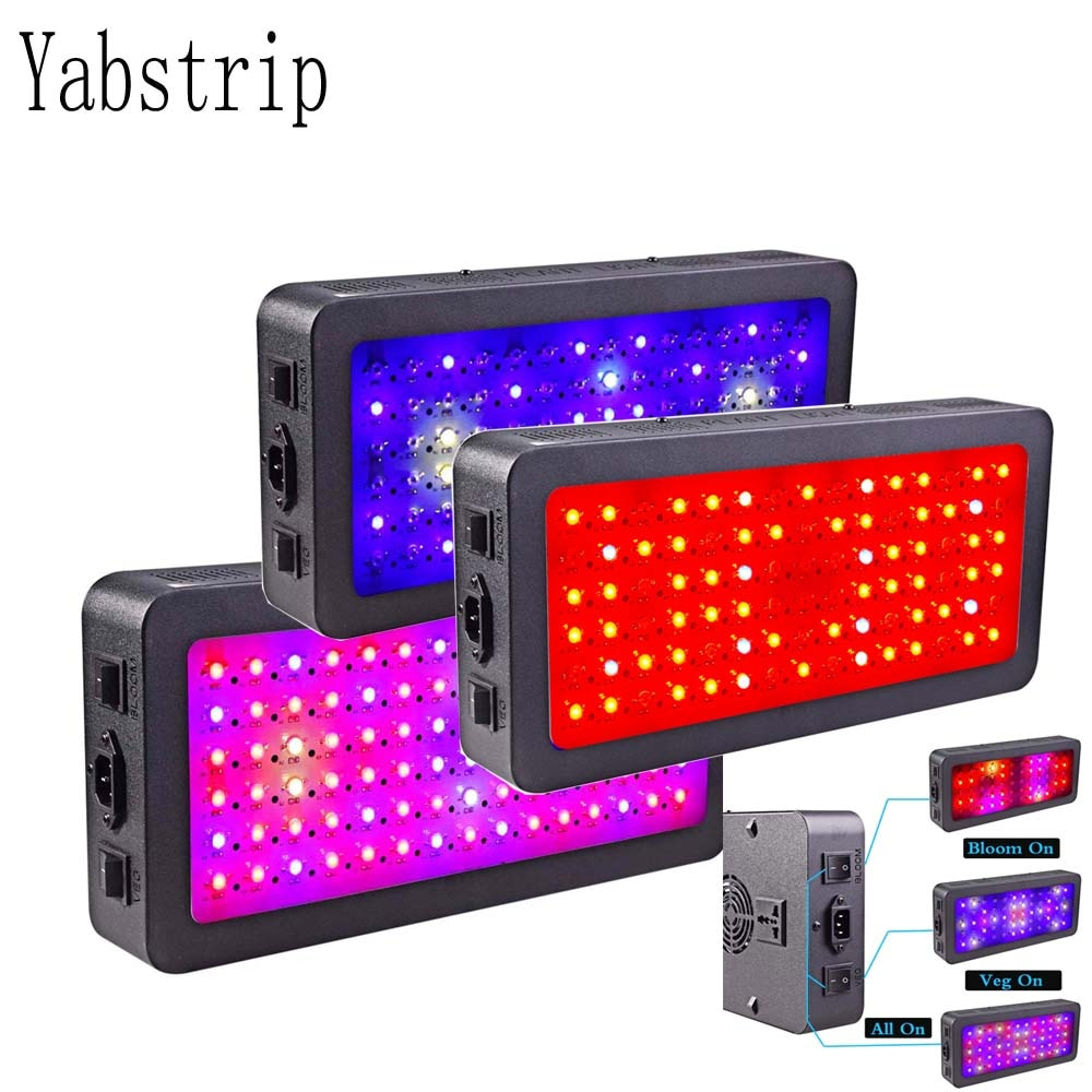 double switch LED grow light 300W 600W 900W 1200W Full Spectrum for Indoor tent plants grow led light Veg Bloom mode phyto lamp fast grow indoor led grow light full spectrum 300w phyto growth lamp indoor phytolamp for plants flower veg greenhouse grow tent