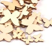 Embellissements en bois naturel m0700   50 pièces, bricolage, artisanat artisanal, en bois naturel non fini, 15/20/30/40mm, bricolage