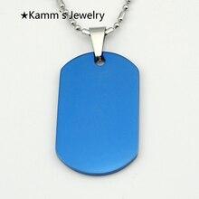 2014 hot koop dog tag blauw 316 rvs hanger ketting metalen stempelen blanks tags militaire viking schorpioen amulet KJP15