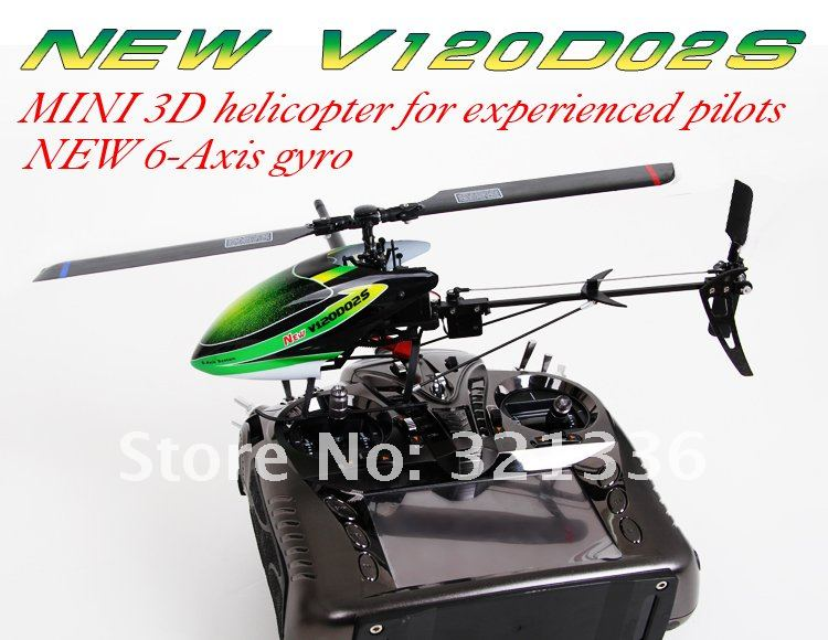 Walkera NEW V120D02S+DEVO 8S MINI 3D helicopter for experienced pilots NEW 6-Axis gyro