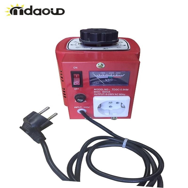 5Amp/10 Amp Variac transformador Variable 500VA/1000VA Max 0-250 AC voltios de salida regulador