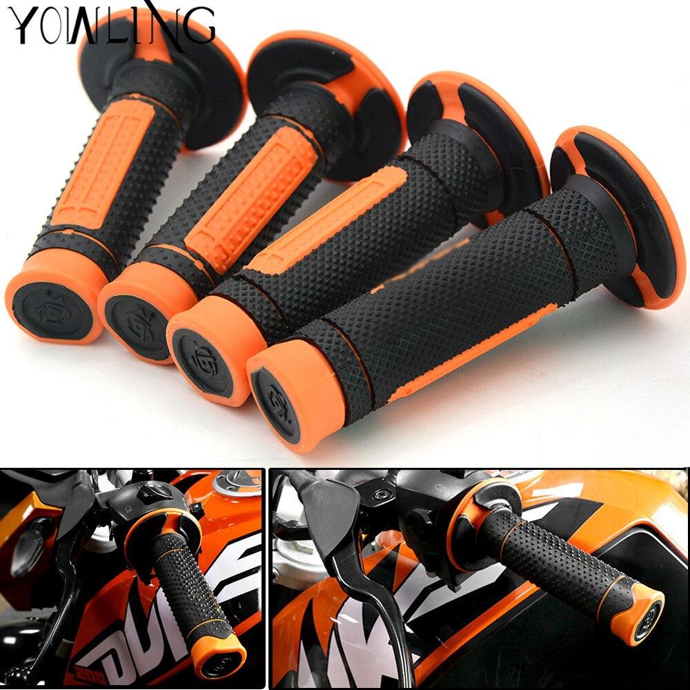 "Empuñaduras de Gel de goma para motocicleta, mangos antideslizantes para KTM 390 Duke RC390 DUKE 250 7/8 ""22 MM, manillar de bicicletas naranja"