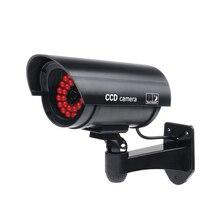 Caméra de sécurité extérieure faux/factice avec 30 lumière LED déclairage (noir)