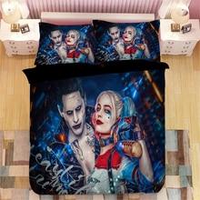 Suicide Squad Harley Quinn 3D bedding set Duvet Covers Pillowcases Deadpool Joker comforter bedding sets bedclothes bed linen