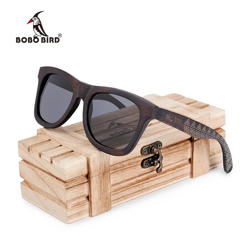 BOBO BIRD gafas de sol de madera bambú para mujer y hombre, gafas de sol polarizadas para mujer, gafas de sol para mujer en caja de madera