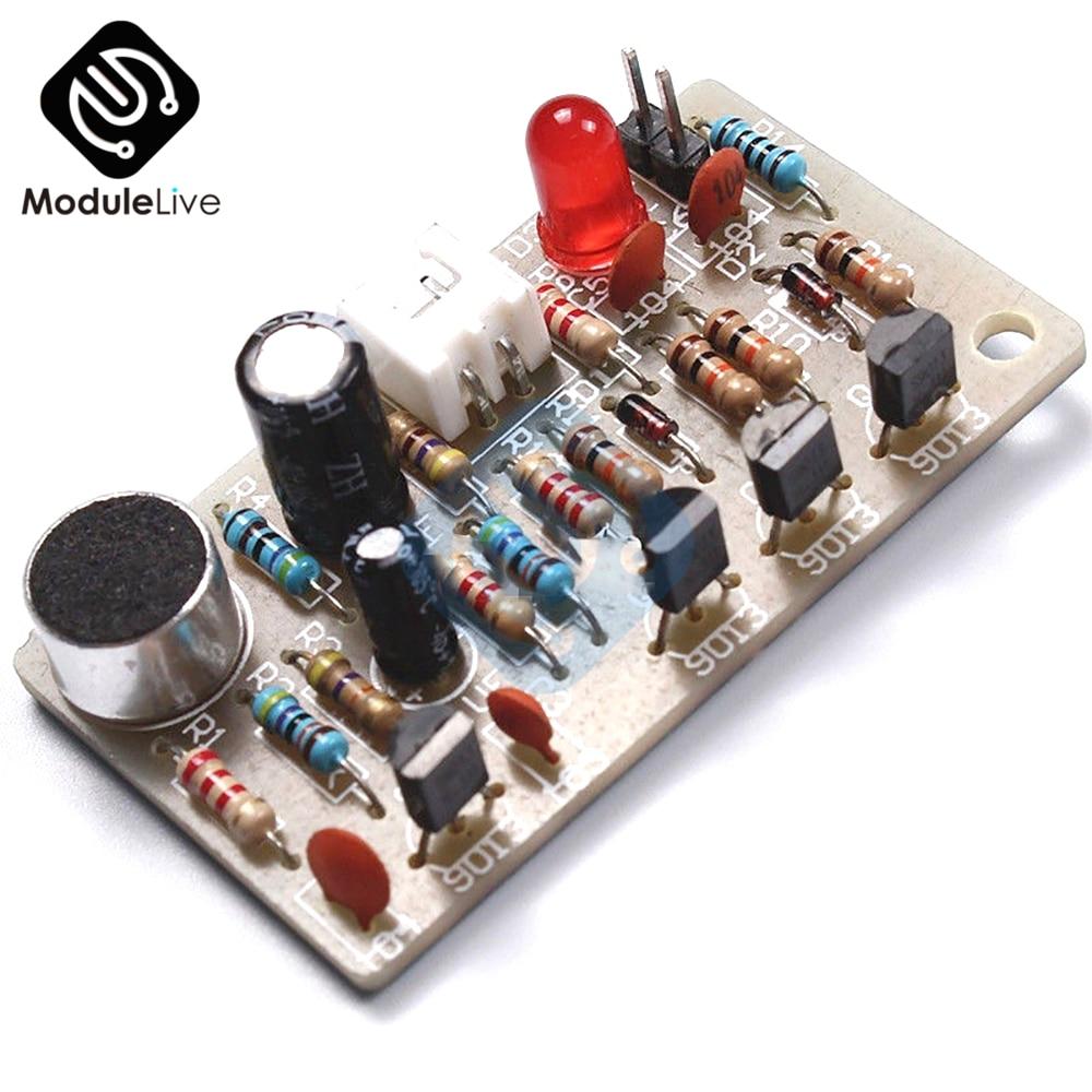 ICSK050A estable DC 5V PCB DIY Kit de sonido Sensor de módulo aplaudir conjunto de conmutadores Kit DIY electrónico DC 5V PCB
