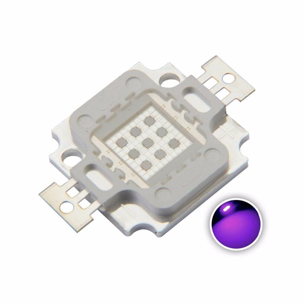 10W de alta potencia LED 900mA 11-13,8 V chip de luz UV 365nm 375NM 385nm 395nm 400nm 415nm 430nm Ultravioleta DIY