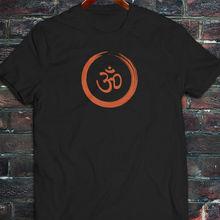 2019 été mode chaude pinceau OM symbole hindou MANTRA spirituel ZEN hommes noir T-Shirt T-Shirt