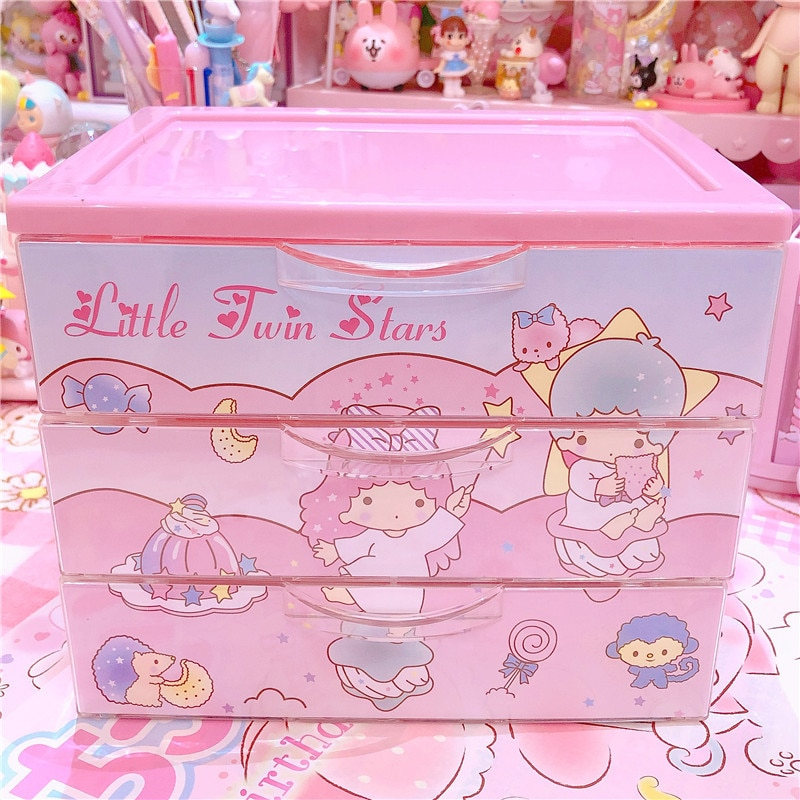 1pc lindo rosa con estrellas de melodía cajas caja de joyería de las niñas decoración del hogar para colección de muñecos de la Caja accessoriess