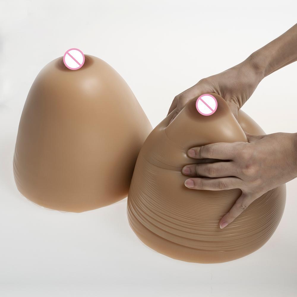 12 kg/pair Enorme Artificial Marrom Rodada Mamários de Silicone Seios Falsos Formas de Mama de Silicone Seios Falsos Bustos Estilo Colete