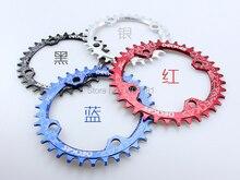 circle chainring BCD 104mm 32T 34 36 38 for MTB bicycle aluminum 7075 narrow wide drivetrains plato de la bicicleta
