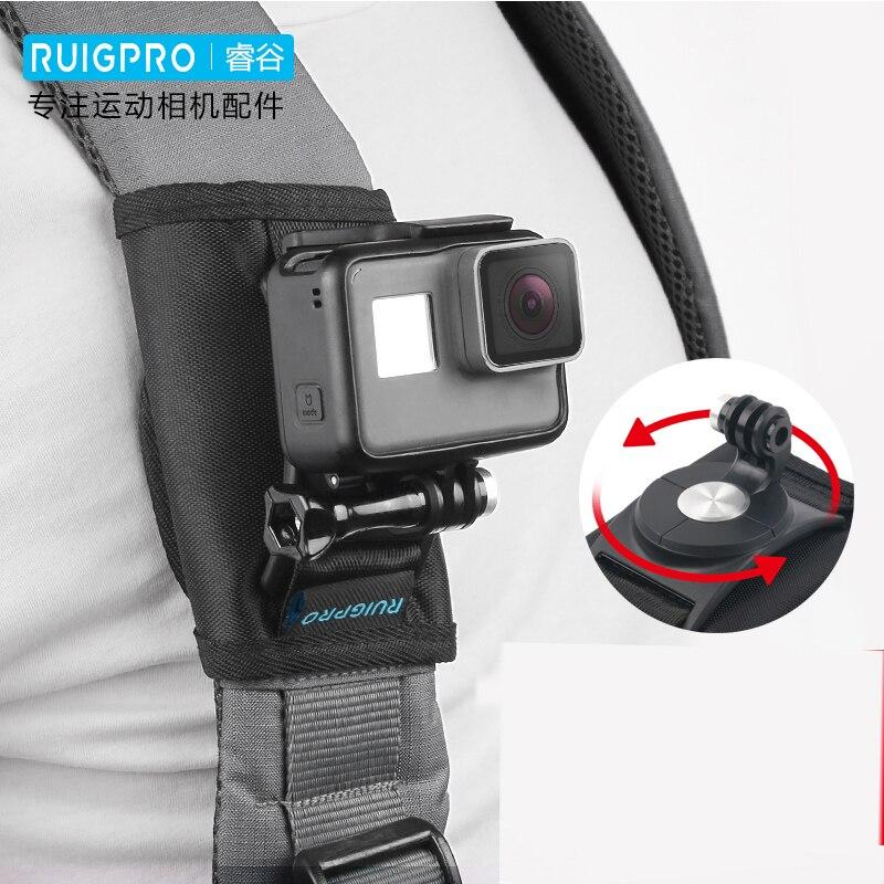 Shoulder Strap Backpack Mount Bracket Holder Stand for GoPro Hero 8 7 6 4 Go pro black SJCAM Xiaomi yi Action Camera Accessories