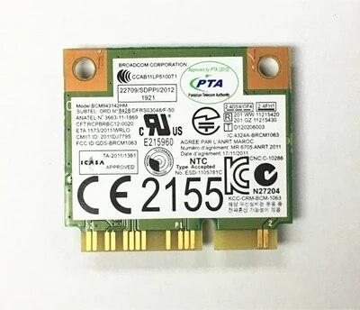 SSEA New Laptop wireless card for Broadcom BCM943142 Wifi+Bluetooth4.0 802.11B/G/N 300Mbps for Lenovo FRU:04W3837