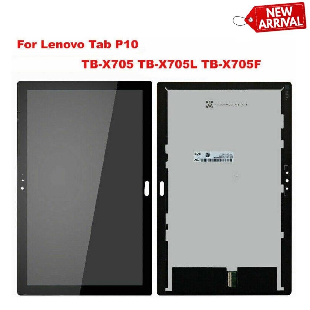 TB X705 para Lenovo Smart Tab P10 Tab5 10 Plus TB-X705L TB-X705F TB-X705N matriz de pantalla LCD con montaje de digitalizador con pantalla táctil