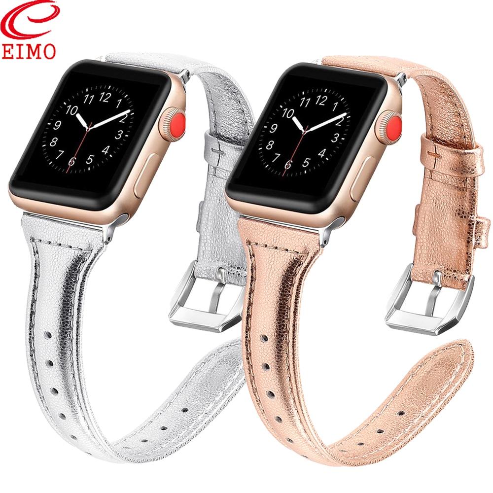 Cinta Para apple watch band 42mm 38mm iwatch 4 banda 44mm 40mm correa de couro Acessórios Pulseira pulseira para a apple watch 4 3