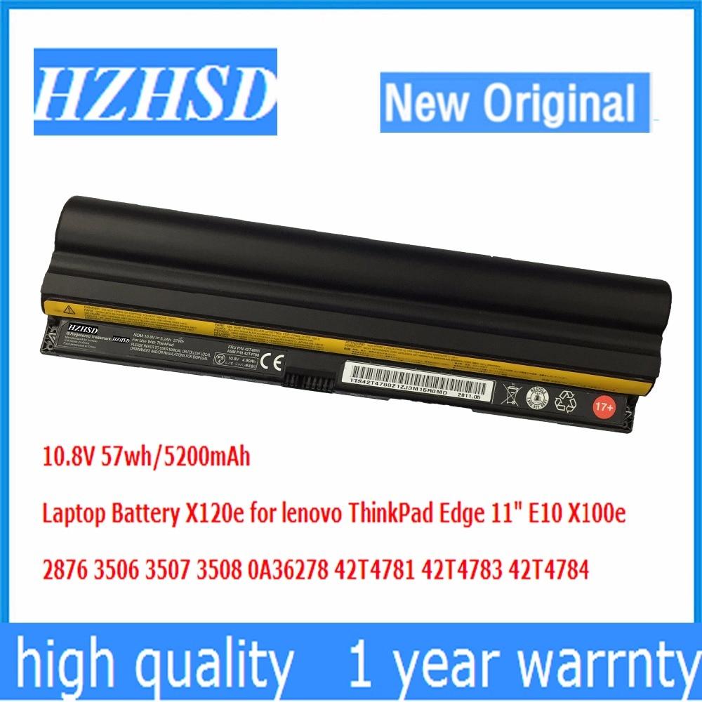 "Batería Original para ordenador portátil 10,8 V 57Wh 6 celdas para Lenovo Thinkpad Edge 11 ""X100e X120e 42T4785 42T4787 42T4788 42T4781"