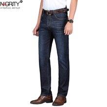 NIGRITY 2020 printemps été nouveaux hommes jeans décontractés droite mode denim pantalon mâle pantalon 2 couleurs en option grande taille 29-42