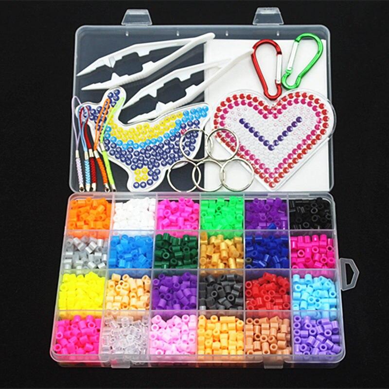 5 мм 24 цвет perler бисер комплект, hama Бусы с шаблонами аксессуары для детей DIY Handmaking 3D головоломки Обучающие Игрушечные лошадки